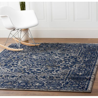 Artifact Gray/Blue Area Rug Rug Size: Runner 27 x 8