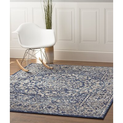Artifact Blue/Gray Area Rug Rug Size: 710 x 910