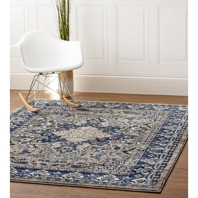 Artifact Gray/Blue Area Rug Rug Size: 33 x 47