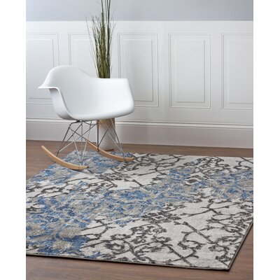Artifact Blue/Beige/Gray Area Rug Rug Size: 53 x 73