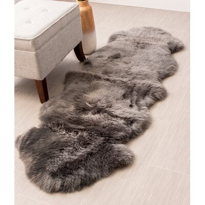 Handmade Gray Area Rug