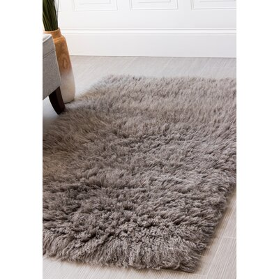 Handmade Light Gray Area Rug