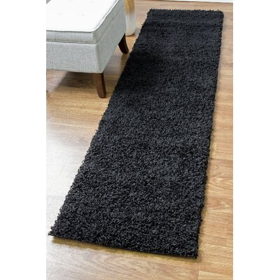 Black Area Rug Rug Size: Runner 27 x 8