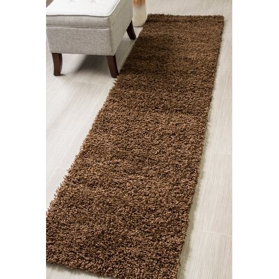 Brown Area Rug Rug Size: Runner 27 x 8