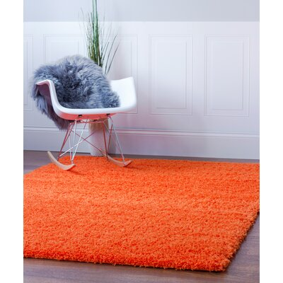 Aurea Orange Area Rug Rug Size: 5 x 8