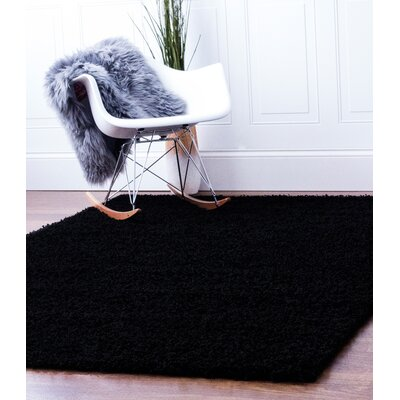 Black Area Rug Rug Size: 4 x 6