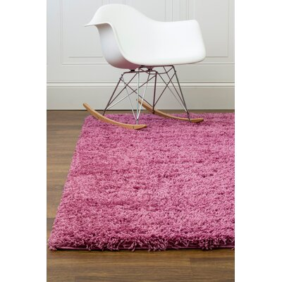 Lilac Purple Area Rug Rug Size: 33 x 53