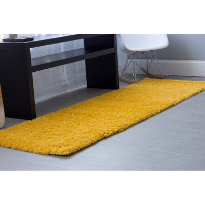 Yellow Area Rug Rug Size: Runner 27 x 8