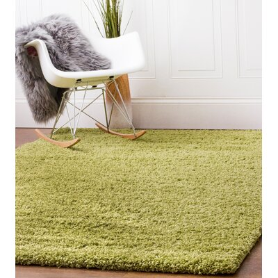 Green Area Rug Rug Size: 33 x 53