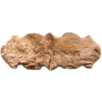 Sheepskin Fur Shag Honey Area Rug
