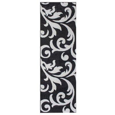 Melendez Gray/Ivory Area Rug Rug Size: Runner 27 x 71
