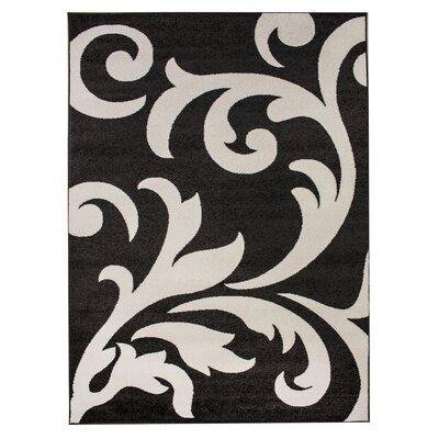 Melendez Gray/Ivory Area Rug Rug Size: 3 3 x 5