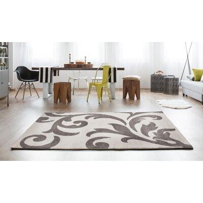 Melendez Ivory/Gray Area Rug Rug Size: 3 3 x 5