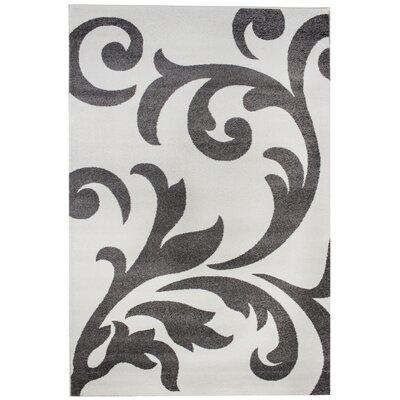 Melendez Ivory/Gray Area Rug Rug Size: Runner 2 7 x 7 10