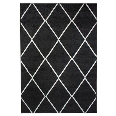 Madison Avenue Dark Gray Area Rug Rug Size: 3 3 x 5