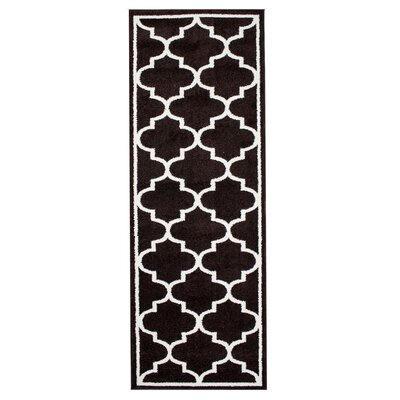 Madison Avenue Bordered Brown Area Rug Rug Size: Runner 27 x 710