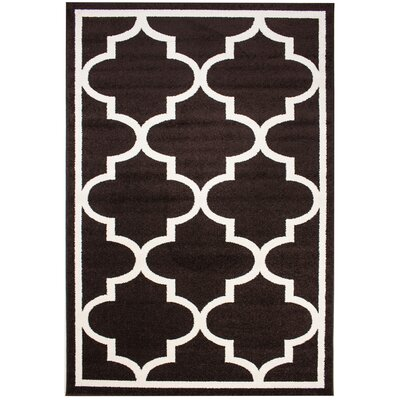 Madison Avenue Bordered Brown Area Rug Rug Size: 5 x 8
