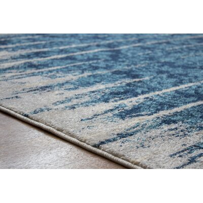 Madison Avenue Gray/Blue Area Rug Rug Size: 33 x 47