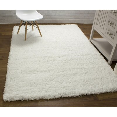 Cloud Microfiber Ultra Soft Shag White Area Rug Rug Size: 5 x 7