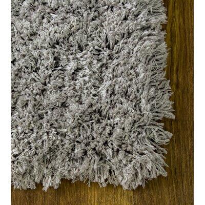 Cloud Microfiber Ultra Soft Shag Silver Area Rug Rug Size: 7 6 x 9 6