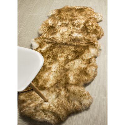Cole Genuine Fur Double Pelt Handmade Shag Sheepskin Eclipse Area Rug