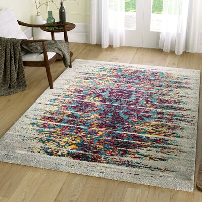 Bartos Pink/Blue Area Rug Rug Size: Rectangle 53 x 73