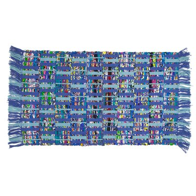 Marino Hand-Woven Blue Area Rug Rug Size: 2 x 3