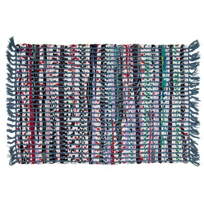 Santana Hand-Woven Blue Area Rug Rug Size: 2 x 3
