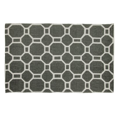 Hollywood Handmade Gray Area Rug Rug Size: 26 x 42