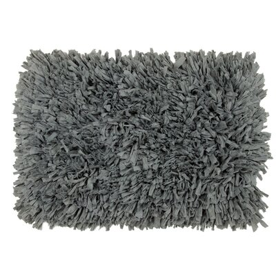 Hand-Tufted Pewter Area Rug Rug Size: 22 x 37