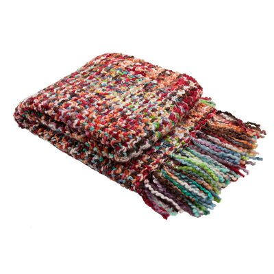 Sheba Throw Color: Red Multi