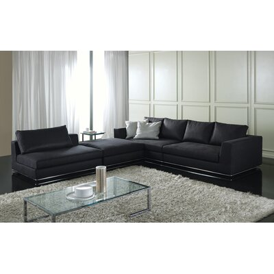 Leonard Modular Sectional Upholstery: Dark Gray