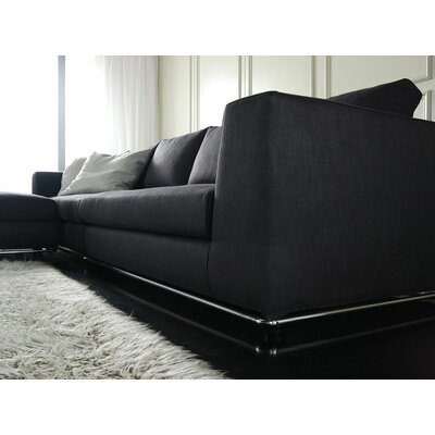 Leonard Reversible Sectional Upholstery: Dark Gray