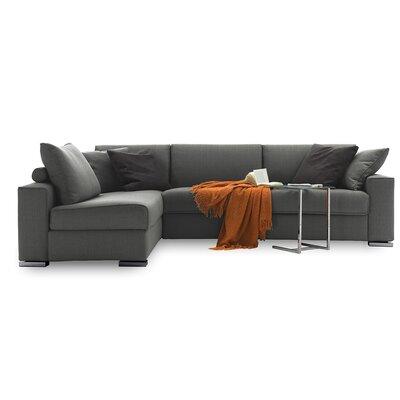 Infinito Sleeper Sectional Upholstery: Dark Gray