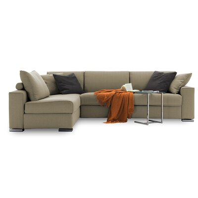 Infinito Sleeper Sectional Upholstery: Dark Beige