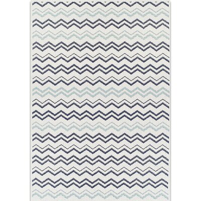 Navy/Gray Indoor/Outdoor Area Rug Rug Size: 7 x 10