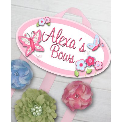 Pretty Butterfly Personalized Hair Bow Holder HB0016
