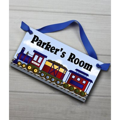 Express Train Personalized Bedroom Door Sign DS0010