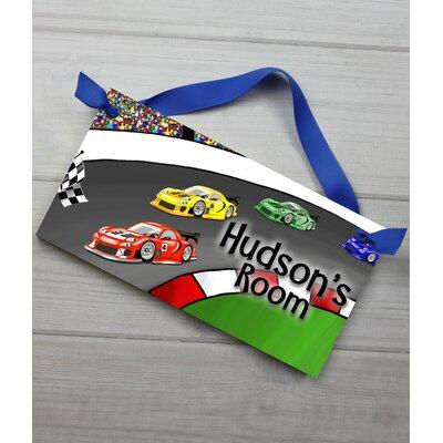 Race Car Personalized Bedroom Door Sign DS0023