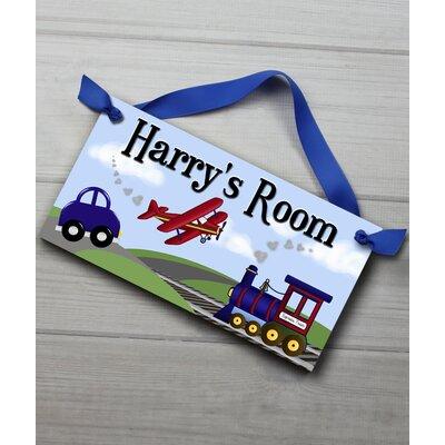 Transportation Personalized Bedroom Door Sign DS0027