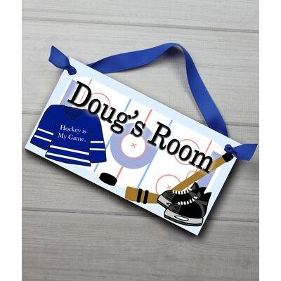 Hockey Personalized Bedroom Door Sign DS0032