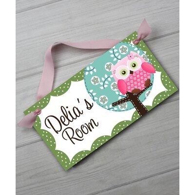 Owl Personalized Bedroom Door Sign DS0025