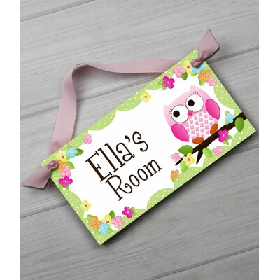 Owl Personalized Bedroom Door Sign DS0019