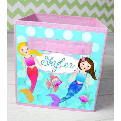 Mermaid Personalized Fabric Bin FB0083