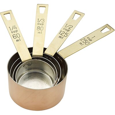 4 Piece Copper Measuring Cup Set KPR00017