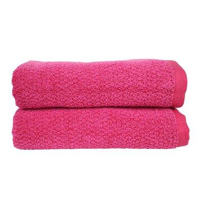 Diamond Jacquard Bath Towel Color: Magenta
