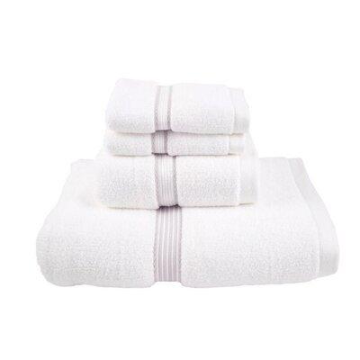 Luxury Performance Core 4 Piece Towel Set Color: Silver