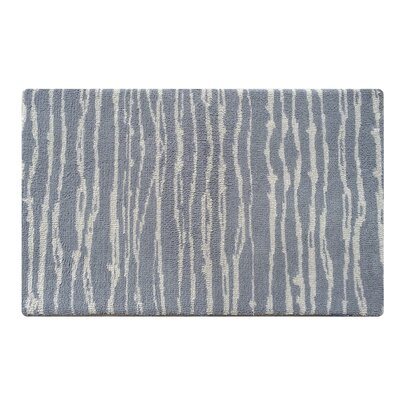 Memory Foam Blue/Gray Bath Mat