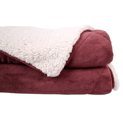 Thermal Retention Sherpa Blanket Color: Red, Size: King/California King