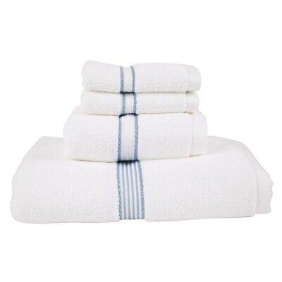 Luxury Performance Core 4 Piece Towel Set Color: Slate Blue